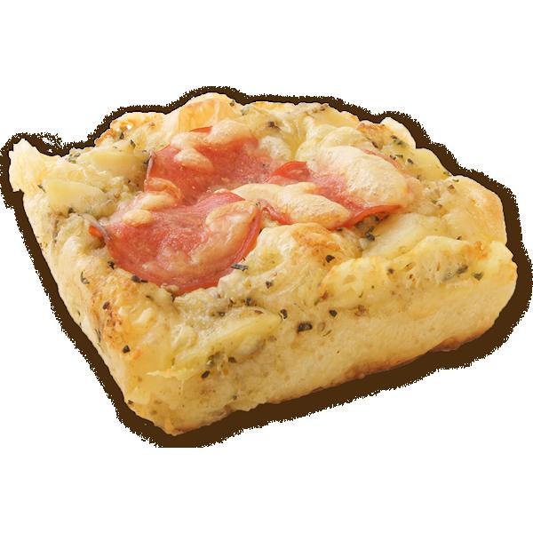 Potato focaccia with anchovy garlic