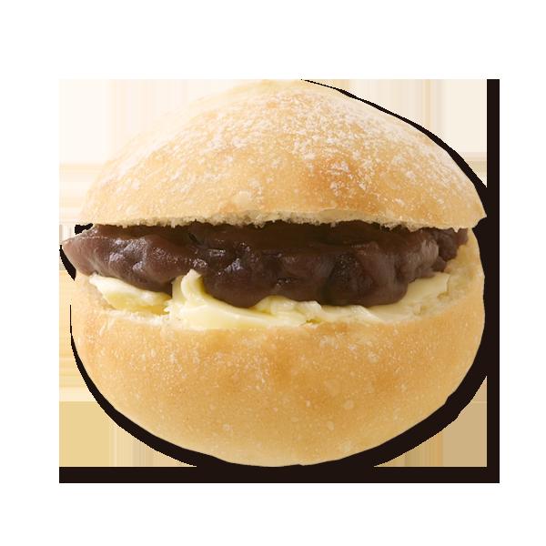 京小麦のプチパン あんバター