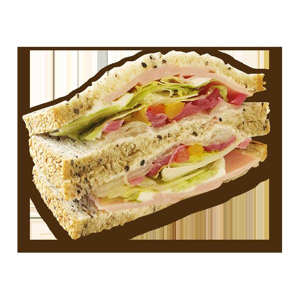 雑穀サンド ロースハムと自家製ピクルス