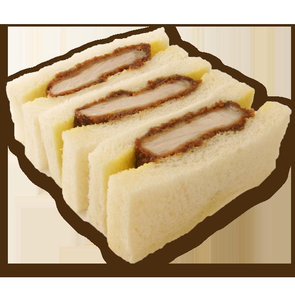 大麦豚ロースカツサンド