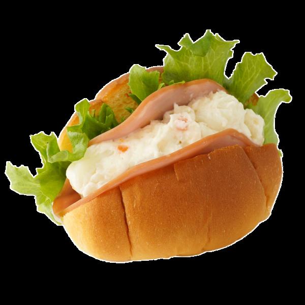 ハムとポテトサラダのコッペパン