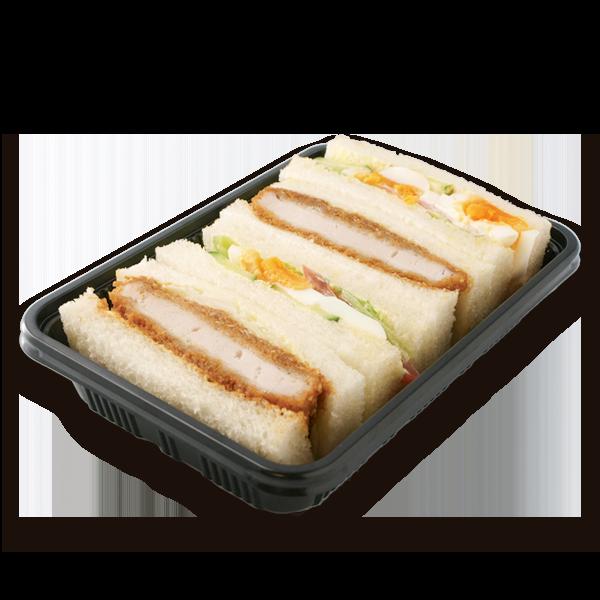 三元豚のロースカツ野菜サンド